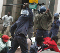 Illustrative of violence in Zimbabwe. Copyright AP.