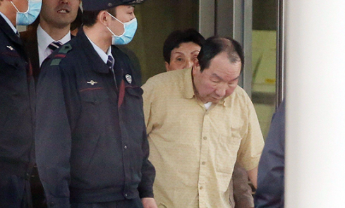 Hakamada leaves prison after 46 years on death row © JIJI PRESS/AFP/Getty Images