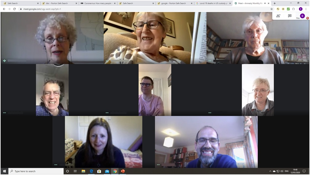 Taunton AI virtual meeting - May